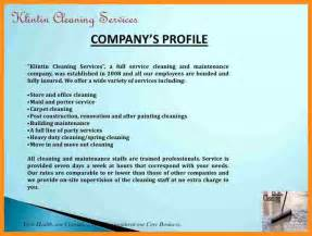 9 cleaning company profile sample parts of resume