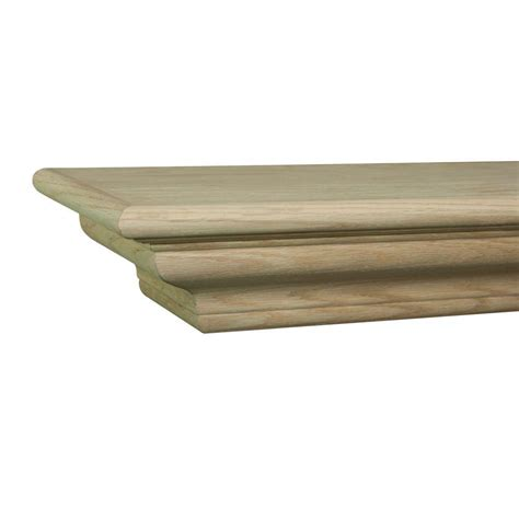 the lindon 6 ft unfinished cap shelf mantel 490 72 the
