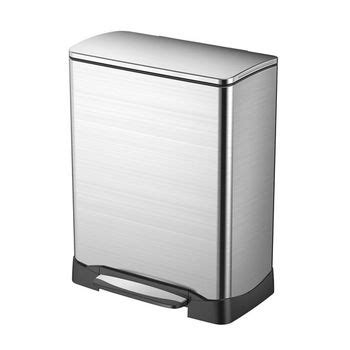 household essentials freestanding stainless steel trash