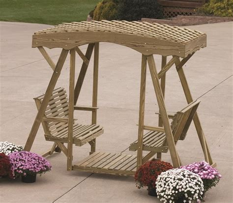 lawn glider swing amish pine rollback double lawn glider by dutchcrafters amish