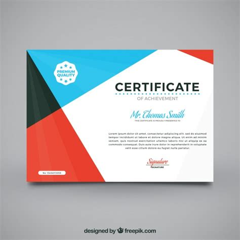 design graduation certificate graduation certificate with abstract design vector free