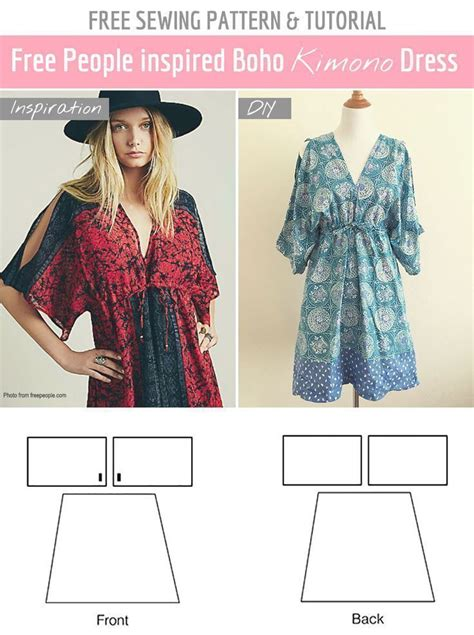 kimono pattern diy easy free sewing pattern diy free people summer dress