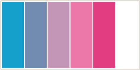 what color matches with pink and blue colorcombo2454 with hex colors 13a1cb 728cb0 c296b6