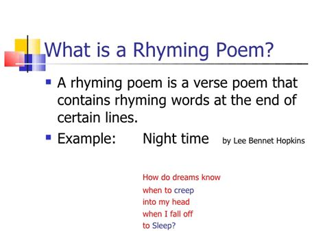 rhythm poems exles