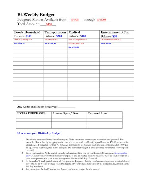 paycheck budget template bi weekly paycheck budget template driverlayer search engine