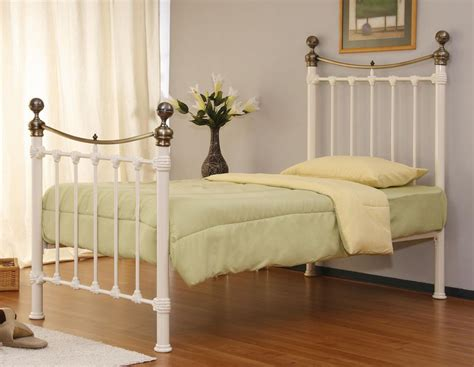 Single Bed Frame No Headboard by Monmouth 3ft Single Ivory Metal Bed Stunning Bed