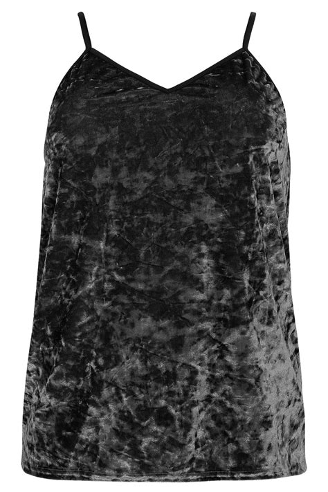 Crushed Velvet Cami Top limited collection black crushed velvet cami top plus