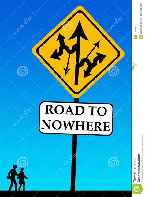 where to road to nowhere stock illustration image of change