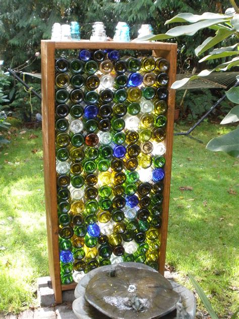 Glass Wine Bottle Garden Wall Garden Pinterest Wine Bottle Garden Wall