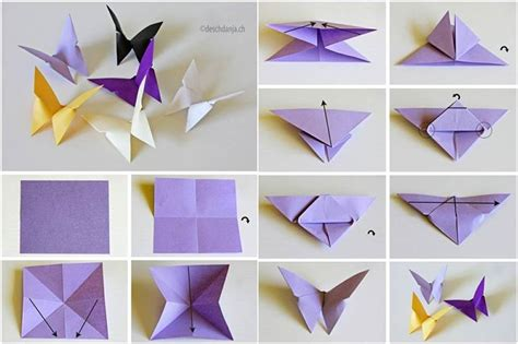 Make Paper Butterflies - how to diy origami butterfly