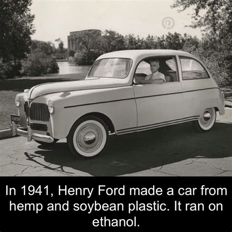 car made by henry ford henry ford s car made if hemp and soybean plastic cars