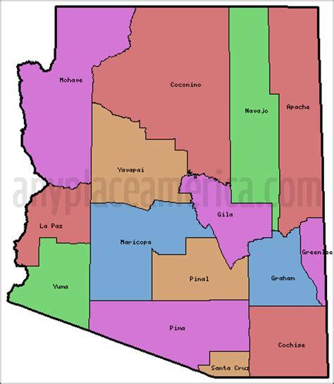 arizona county map free arizona maps