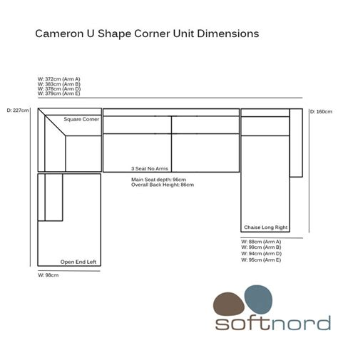 corner couch dimensions cameron u shaped corner sofa by softnord large modular sofa