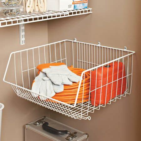 closetmaid stack or mount storage basket walmart
