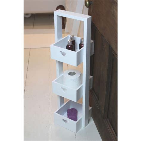 3 tier bathroom storage wooden three tier white free standing bathroom storage caddy
