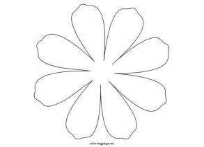 Printable Flower Daisy 8 Petal Coloring Page Template sketch template