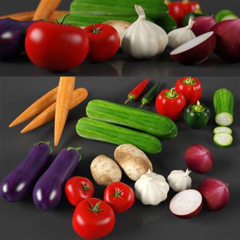 vegetables 3d max 3d vegetables model max obj fbx 3ds c4d stl