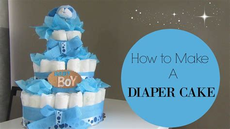 How To Make A Cake From Diapers For Baby Shower how to make a cake