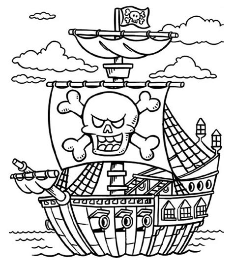 Galerry easy pirate coloring page