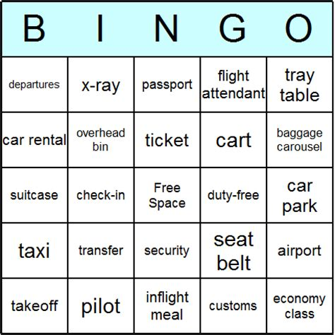 travel bingo card template air travel bingo cards printable bingo activity