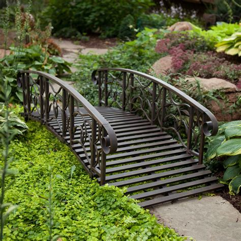 metal garden bridge decorative and functional item for home garden homesfeed
