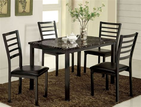 marble top dining room sets colman 48 quot faux marble top rectangular leg dining room set
