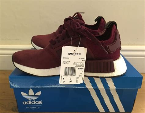 Adidas Nmd R1 Maroon Suede S75231 Authentic Original adidas nmd r1 maroon los granados apartment co uk