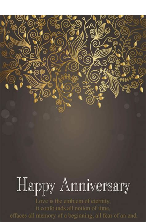 anniversary card template blue love template of