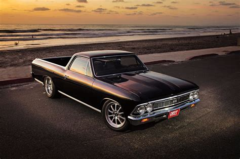 the black el camino 1966 chevy chevelle el camino cars black modified