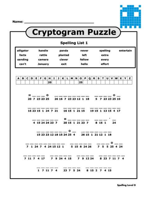 Cryptoquote Printable