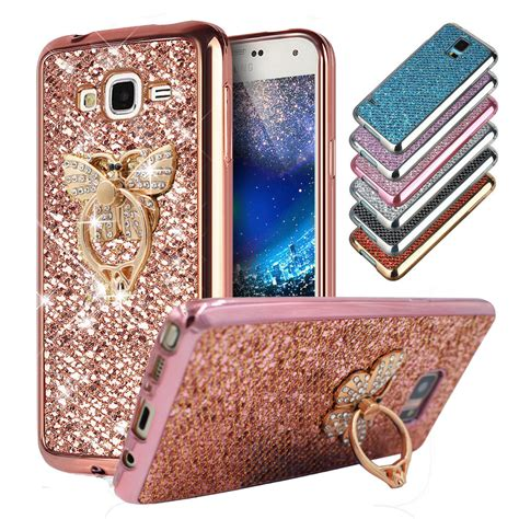 Metal Glitter Samsung Galaxy J1 Hardcasehardgliterblink2 glitter bling tpu soft gel phone metal ring stand
