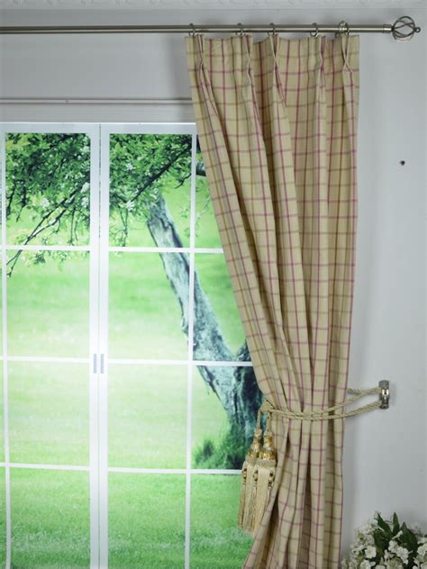 pinch pleated drapes 95 inches long small plaid blackout double pinch pleat extra long