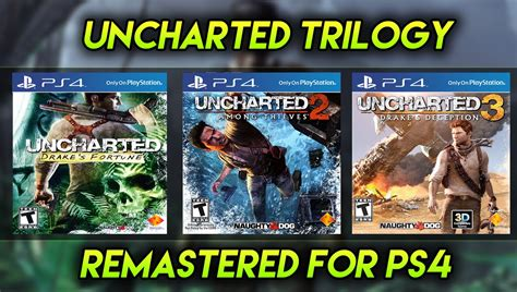 Uncharted The Nathan Collection R All Ps4 Ori uncharted trilogy uncharted 1 2 and 3 remastered on ps4