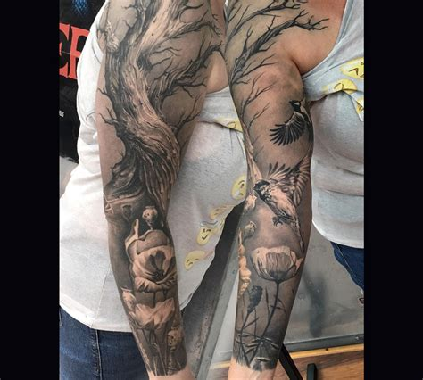 nature sleeve tattoo beautiful nature sleeve best design ideas