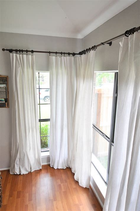 drop cloth curtain how to make no sew bleached drop cloth curtains our