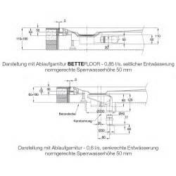 bette floor side bette bettefloor side duschfl 228 che 140 x 90 cm megabad