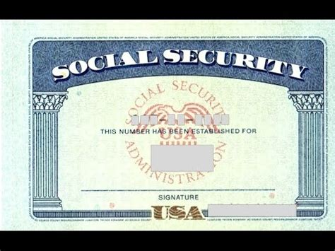 Editable Social Security Card Template by Social Security Card Template Photoshop All About Letter