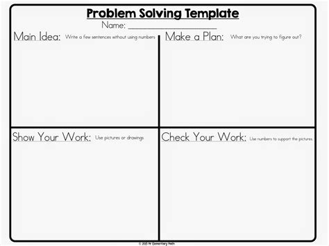 Math Problem Solving 101 Math Problem Solving Math And Elementary Math Problem Solving Template