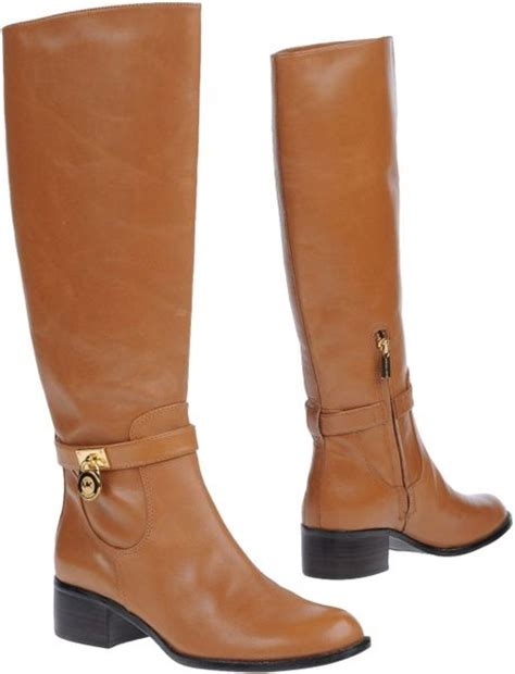 michael by michael kors boots in brown lyst