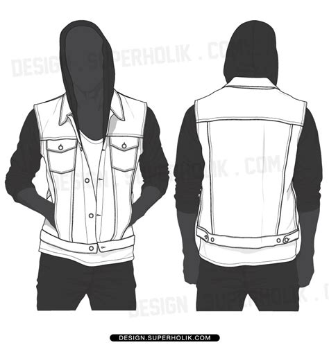vest top template denim vest template set hellovector