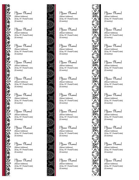 template for hallmark address labels return address labels black and white wedding design