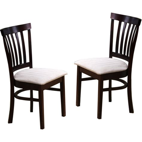 Dining Chairs Walmart by Primo Dining Chairs Espresso Furniture Walmart