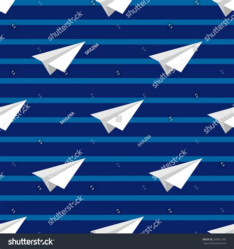 airplane made airplanes made white paper on stripy stock vector