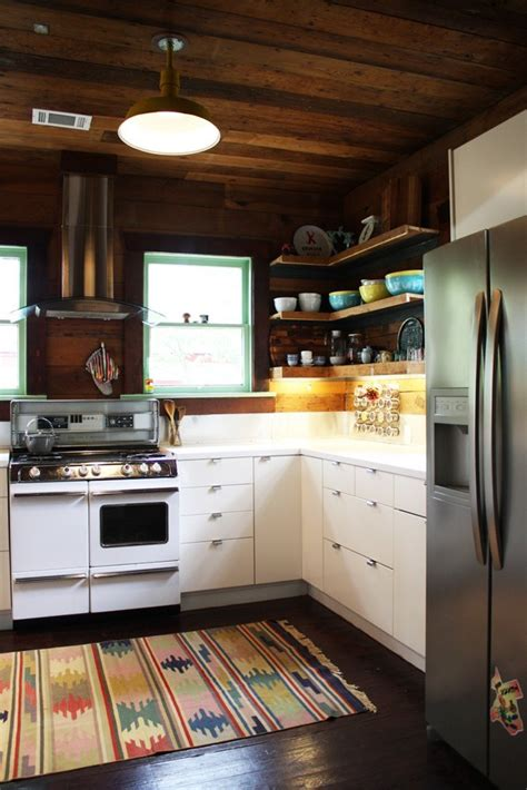 apartment therapy kitchen modern rustic kitchen erin s warm wood wrapped