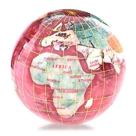 gemstone globe paperweight rb
