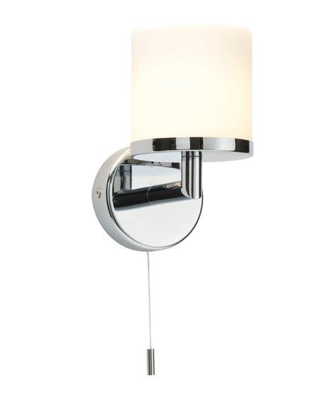 Modern Switched Bathroom Wall Light Ip44 Chrome And Opal Duplex Glass Bathroom Wall Light