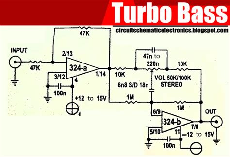 turbo bass with ic lm324 electronic circuit