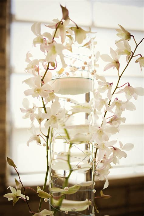 white orchid centerpieces white orchid centerpiece wedding reception flowers decor onewed