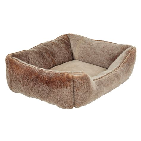 fur dog bed faux fur dog bed medium oka