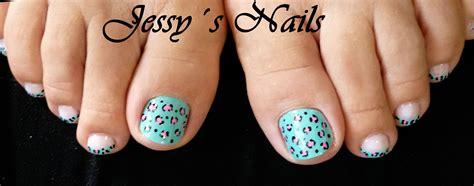 imagenes uñas pies decoradas u 241 as de los pies decoradas con animal print en color azul
